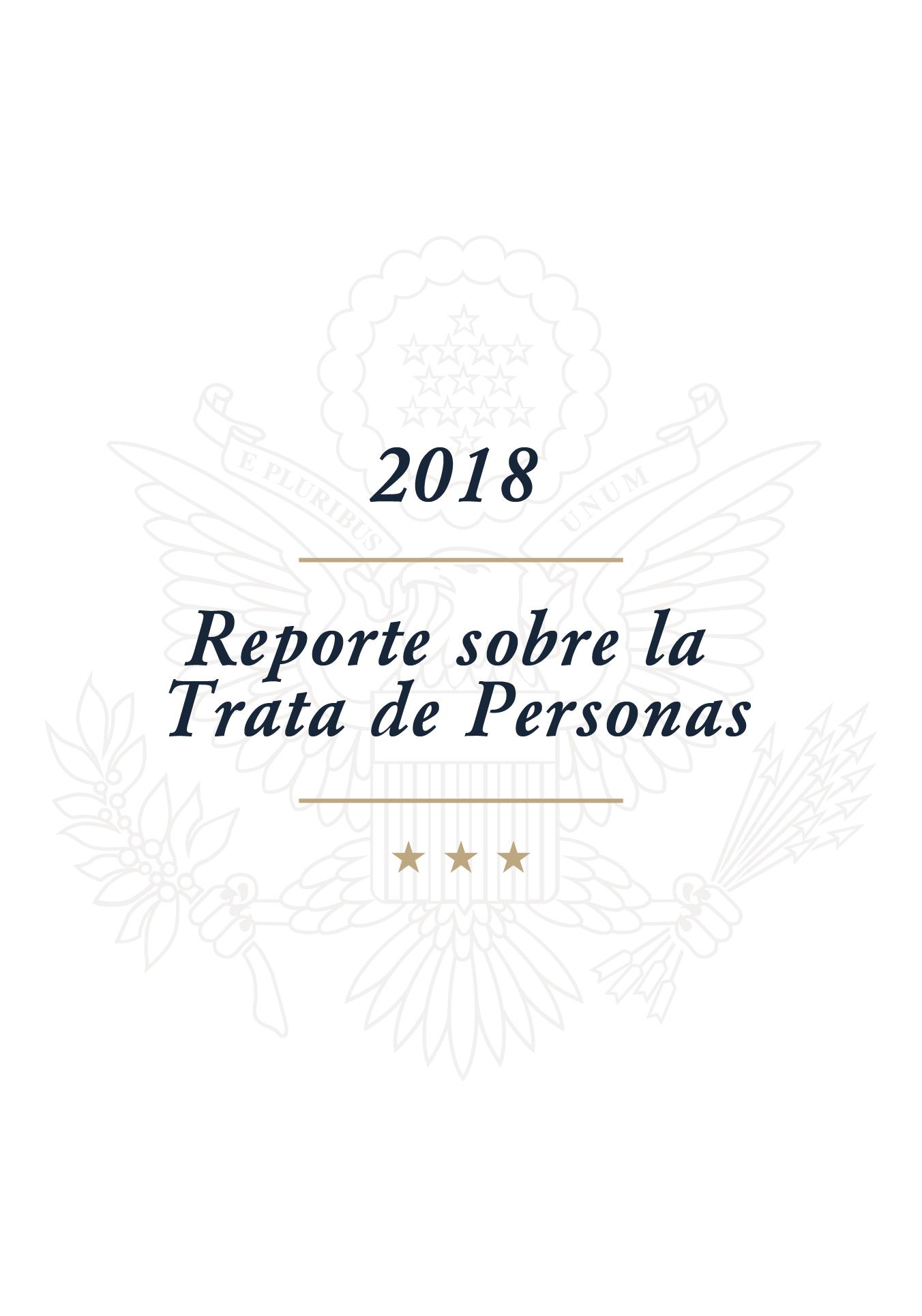 Reporte sobre la Trata de Personas 2018