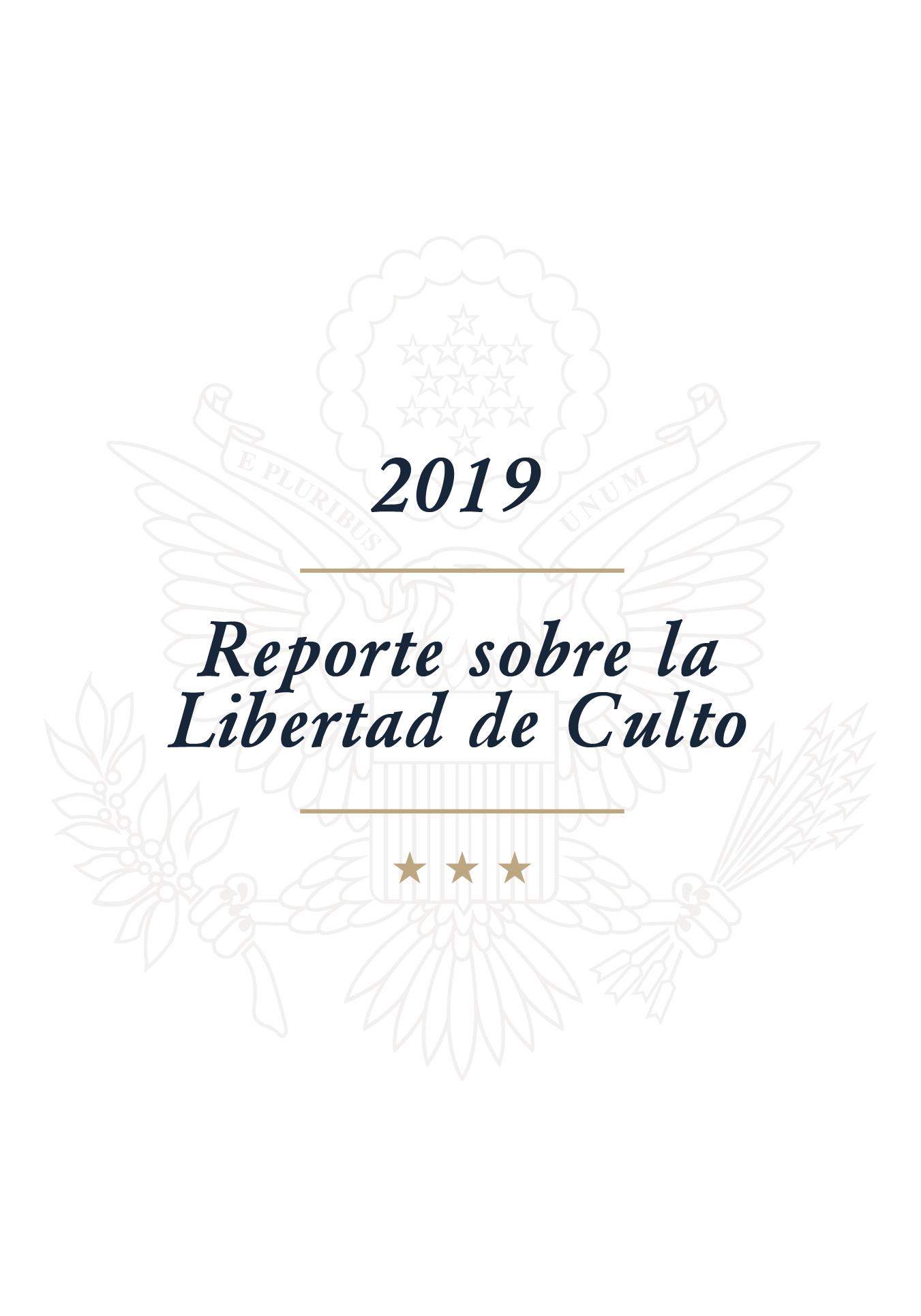 Reporte sobre la Libertad de Culto 2019