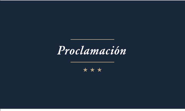 Proclamación