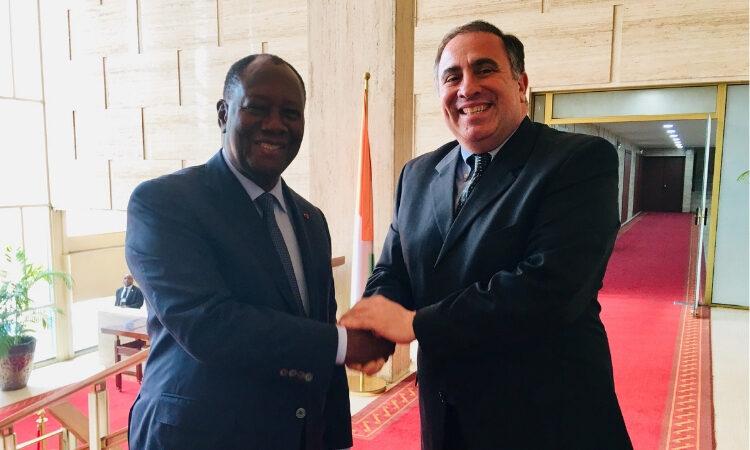 Meeting between President Ouattara and Ambassador Alex Laskaris, Deputy Commander of AFRICOM