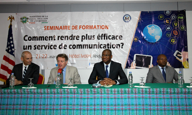 Africa Regional Services Speaker Trains communications officers of government ministries