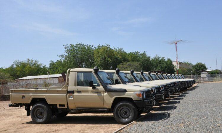 L'Ambassade des Etats-Unis remets des véhicules à l'armée de l'air tchadienne