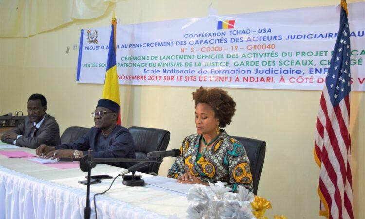 Allocution du Chargé D'Affaires Jessica Davis Ba à la cérémonie du lancement de la « formation des acteurs judiciaires »