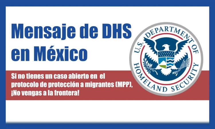 Mensaje de DHS