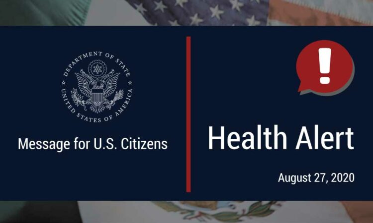 Department of State Health Alert