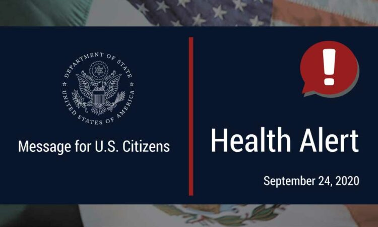 Department of State Health Alert Banner
