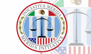 "Seal that reads: ""Merida Initiative."""