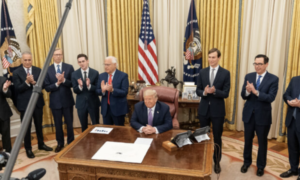 Trump with leaders