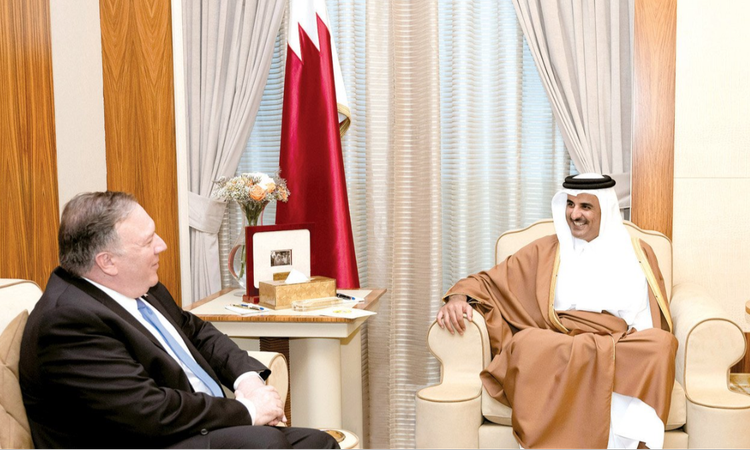pompeo with Amir