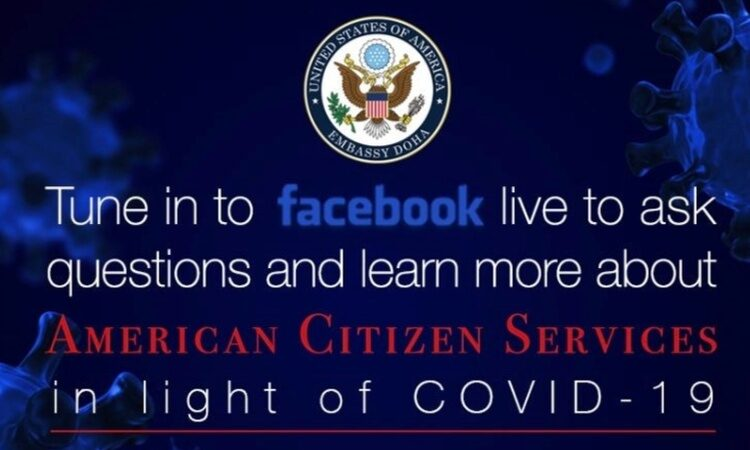 Tune in to Facebook live to ask questions and learn more about American Citizen Services During COVID-19