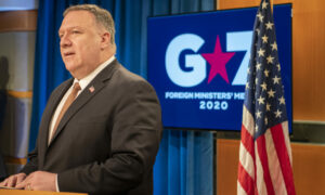 mike pompeo at a press conference