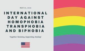 International Day Against Homophobia, Transphobia, and Biphobia (IDAHOTB) Flag.