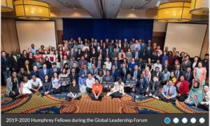 Group of people at Humphrey Fellowship