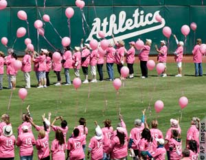 People dressed in pink