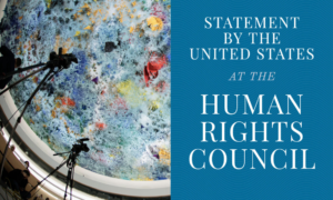 Statement by the United States at the Human Rights Council
