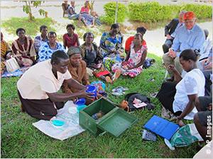 Women receive treatment to control HIV