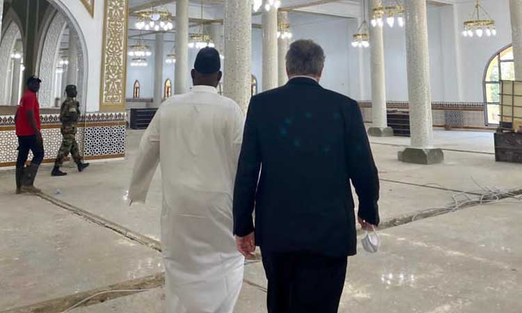 Charge d'Affaires at Mosque