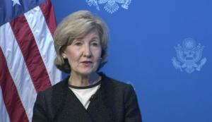 Ambassador Hutchison speaking