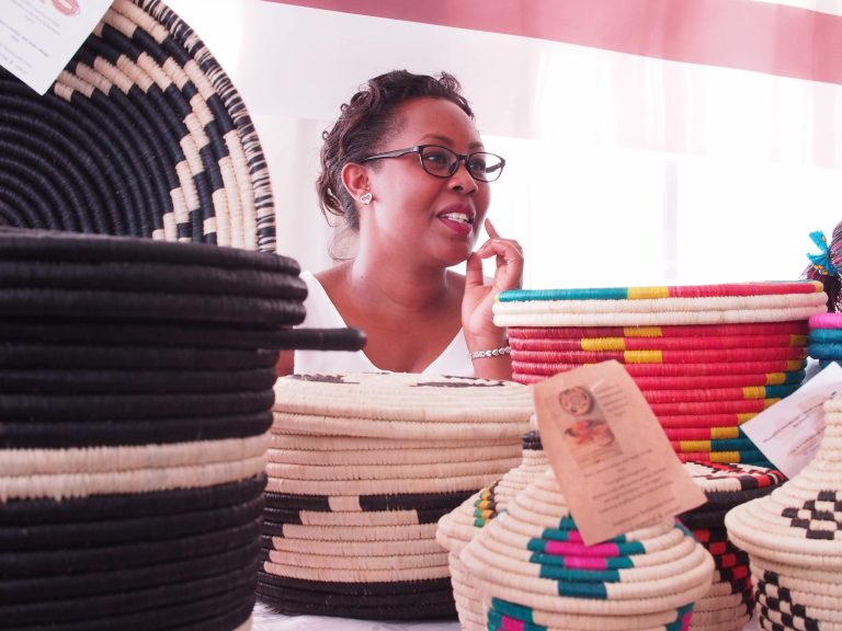 Anne Kabahuma and some of her products