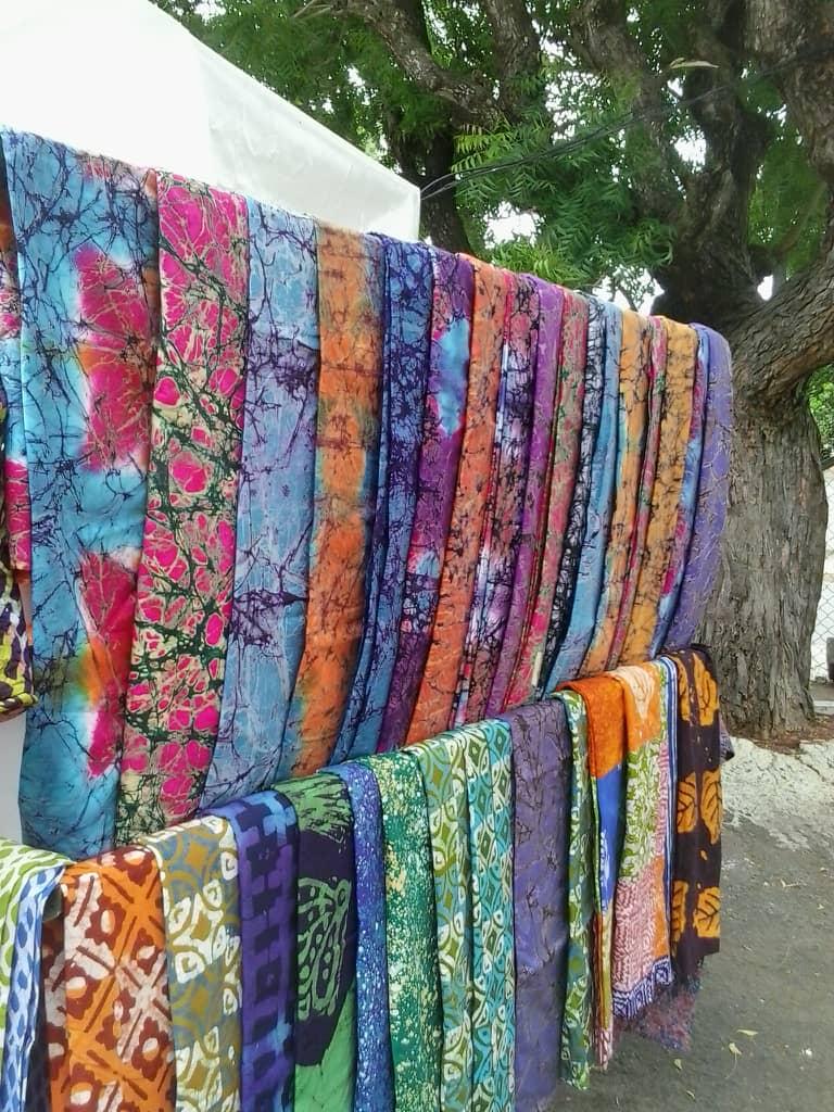 Detail of a batik fabric