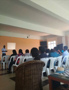 People sitting listening to presentation (Courtesy photo)