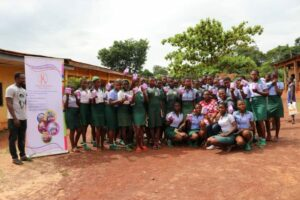 Students at a menstrual hygiene event in June 2019   Advancing Education in Nigeria Starts with Mentorship