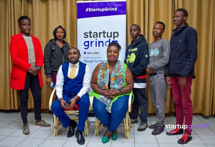 Estelle and her peers at a Startup Grind by Google event in 2019