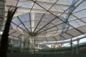 Passive solar architecture makes the most of the sun and breezes. The new Abdali Mall in Amman, Jordan, utilizes solar energy to light, heat and cool.