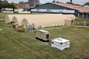 Donated Mobile Field Hospital, Vehicles and Training Equipment at Border Police Unit