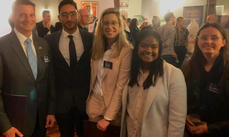 DCM Kevin with the U.S. Embassy Youth Council members from Dunedin and Wellington (Gurleen, second from left, Kate, third from left). Photo credit: U.S. Department of State.