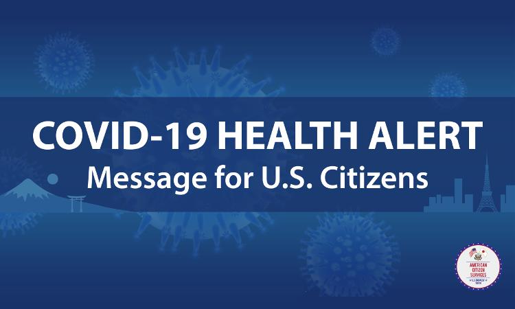 COVID-19 Health Alert text