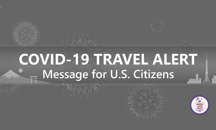COVID 19 Travel Alert text