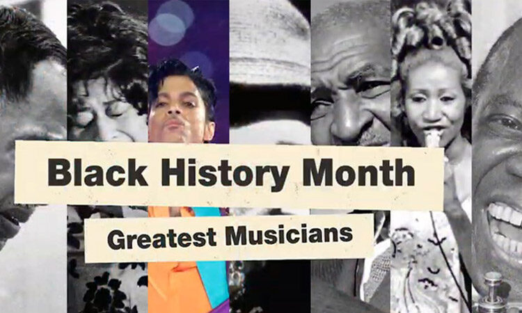 Black History Month Image with 7 Great Musicians