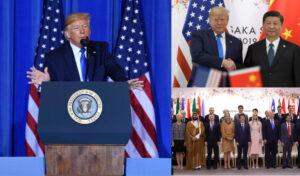 President Trump giving a speech