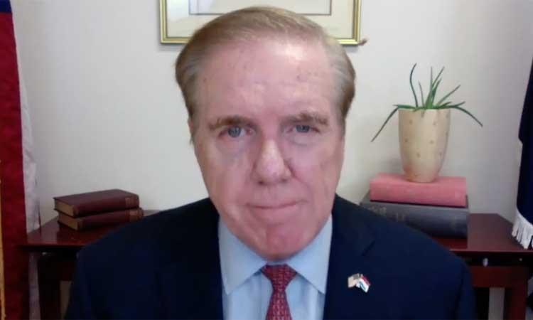 Ambassador Randy Evans over Zoom