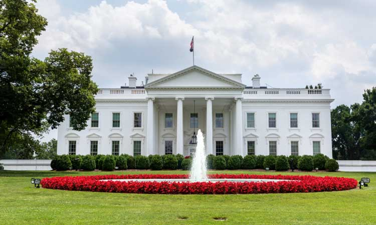 A picture of the white house.