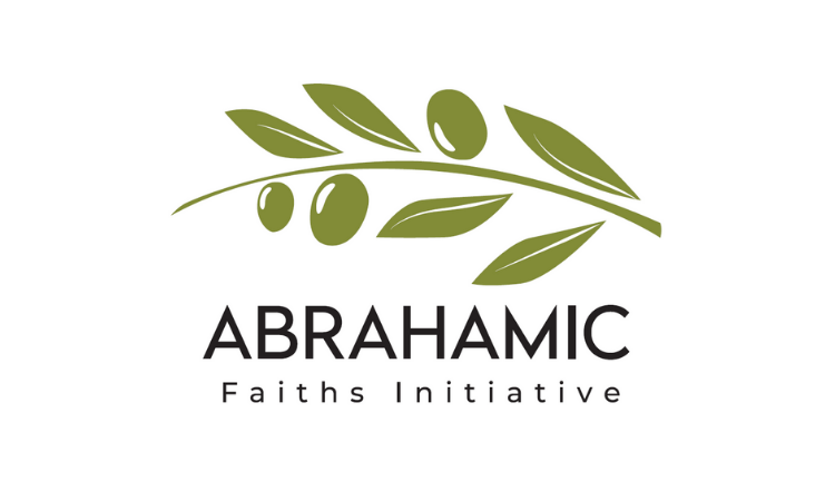 Green olive branch logo for Abrahamic Faiths Initiative