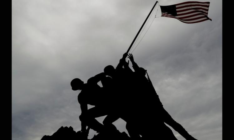 Flag raising on Iwo Jima by U.S. Marines
